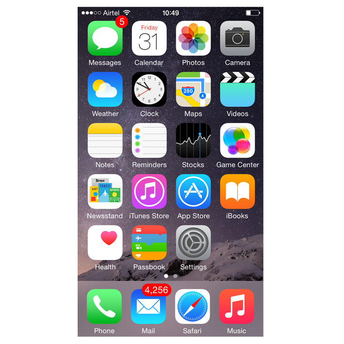 Apple iOS8 (iPhone)